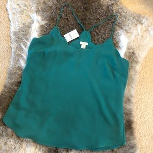 J. Crew Scalloped Cami Top